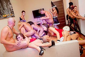 Student group sex on Halloween, part 4